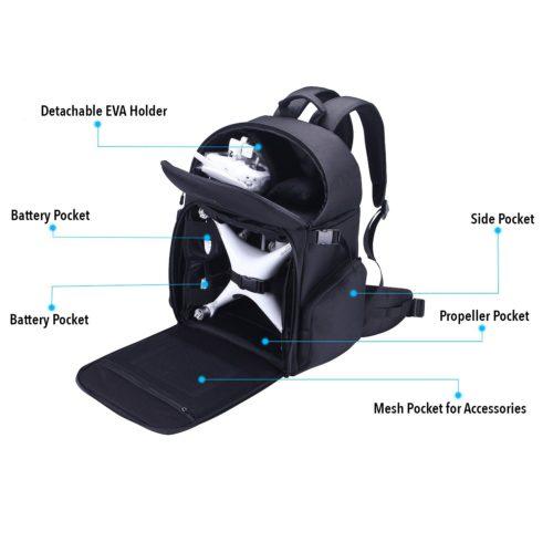Lykus Water Resistant DJI Phantom Backpack Features