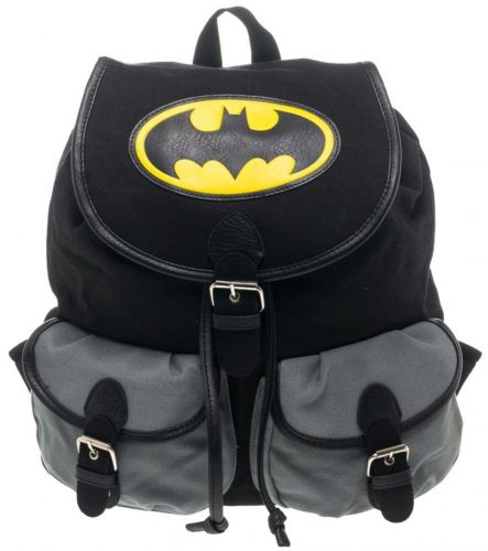4c24f457d387 BIOWORLD DC Comics Batman Logo Color Block Knapsack Backpack