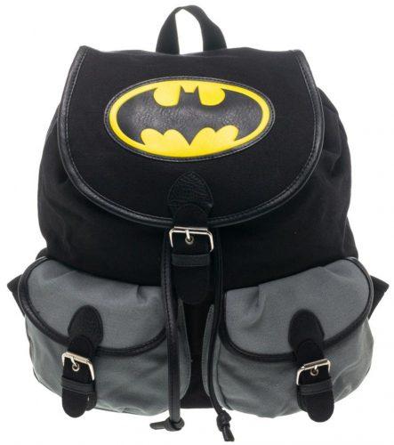 BIOWORLD DC Comics Batman Logo Color Block Knapsack Backpack