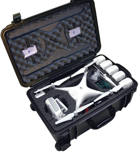 Case Club Waterproof DJI Phantom 4 Drone Wheeled Case