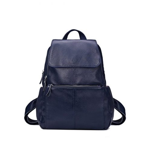 Leyan Genuine Leather Backpack Shoulder Purse