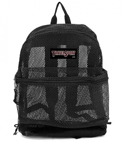 Travel Sport Transparent See-Through Mesh Backpack