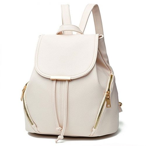 Z-joyee Casual Purse Fashion School Leather Backpack
