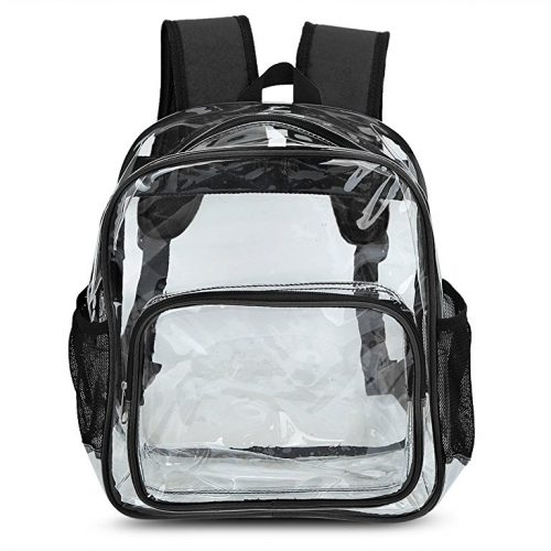 Zicac Girls Cute Transparent Clear PVC Backpack