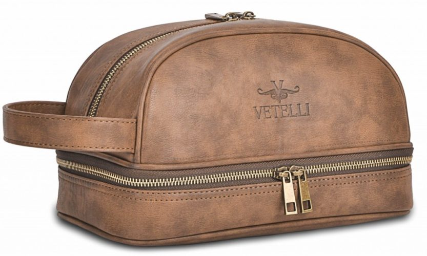 Vetelli Leather Dopp Kit
