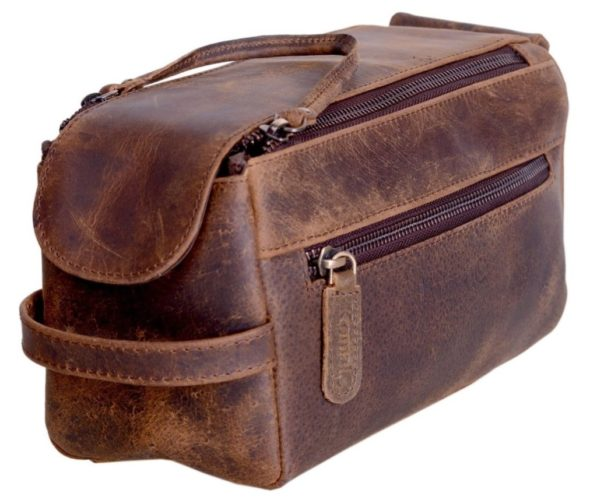 KOMALC Buffalo Leather Toiletry Kit