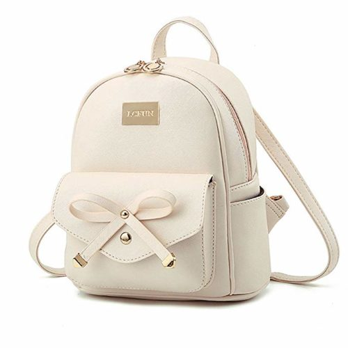 Icfun Mini Faux Leather Backpack