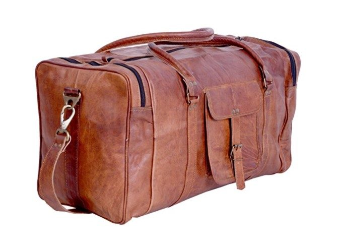 Komal's Passion Leather 21 Inch Vintage Leather Duffel