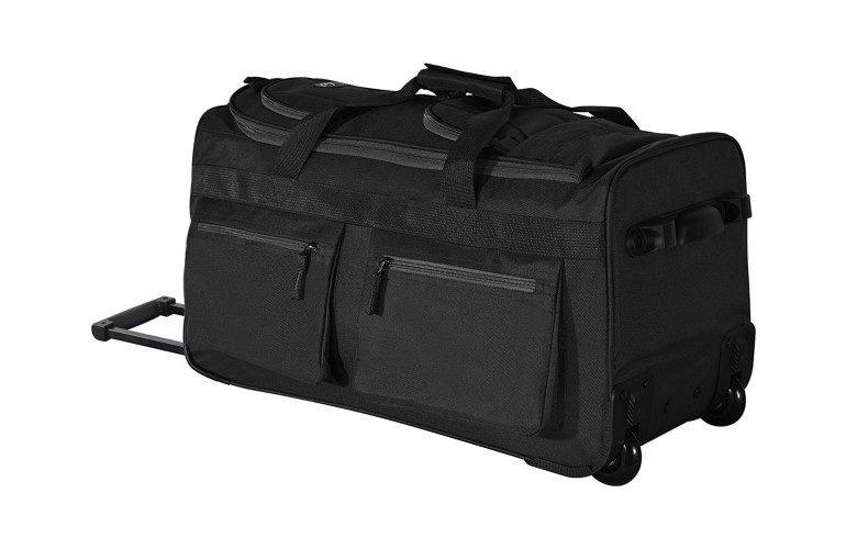 Olympia Luggage 22 inch 8 Pocket Rolling Duffel Bag
