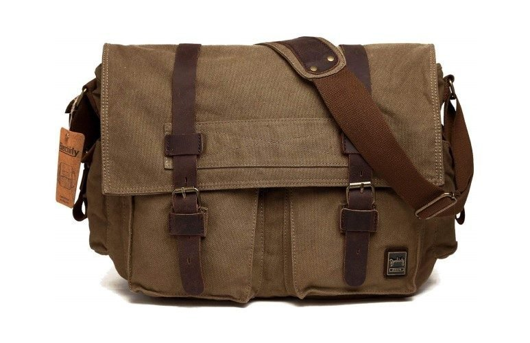 Berchirly Vintage Military Men Canvas Messenger Bag
