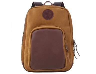 brushed-leather-deluxe-backpack-front-new-logo-camel - Copy