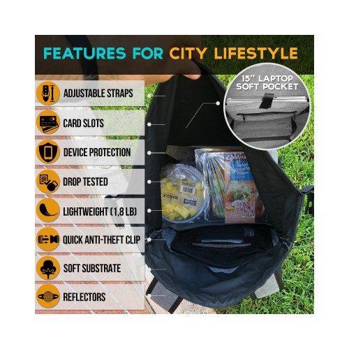 Monger-Trend Portfella Waterproof Backpack