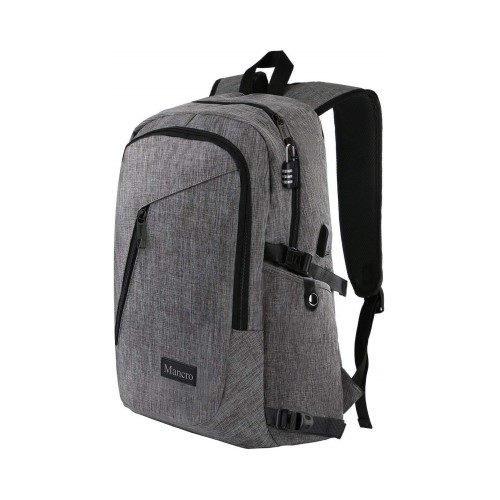 Mancro Anti Theft Water Resistant College School Bookbag