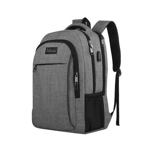 MateinAnti Theft Water Resistant College School Bag