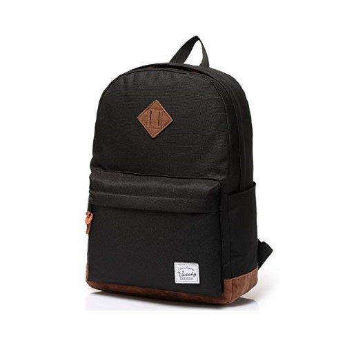 Vaschy Unisex Classic Water Resistant School Backpack