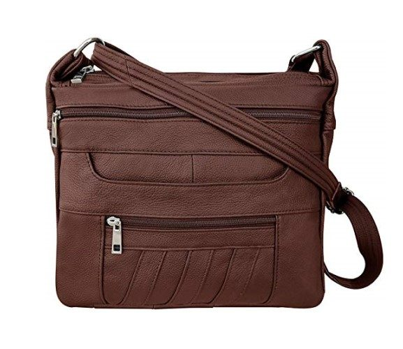 Roma Leathers Leather Concealed Carry Crossbody Purse