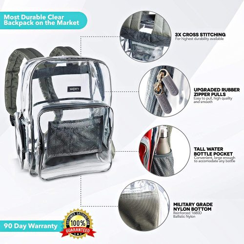 Smarty Heavy Duty Clear Backpack
